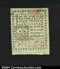 Colonial Notes:Connecticut, Connecticut October 11, 1777 4d Very Choice New. This uncan...