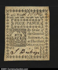 Colonial Notes:Connecticut, Connecticut October 11, 1777 4d Choice New. A lovely little...