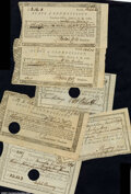Colonial Notes:Connecticut, Connecticut Fiscal Paper. Six pieces of several types, most...