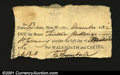 Colonial Notes:Connecticut, Connecticut December 1782 13s Wadsworth and Carter. This sm...