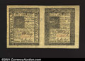 Colonial Notes:Delaware, Delaware January 1, 1776 4s and 5s Horizontal Pair Superb Gem...
