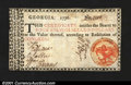 Colonial Notes:Georgia, Georgia 1776 $4 Orange Caduceus Extremely Fine-About New. A...