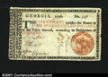 Colonial Notes:Georgia, Georgia 1776 $4 Orange Seal Extremely Fine. Fully margined,...