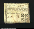 Colonial Notes:Georgia, Georgia June 8, 1777 $3/4 Extremely Fine. Not listed above ...