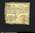 Colonial Notes:Georgia, Georgia June 8, 1777 $1 Very Fine. This nice Georgia note w...