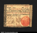 Colonial Notes:Georgia, Georgia June 8, 1777 $2 Very Fine. There is a small piece m...