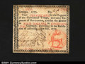 Colonial Notes:Georgia, Georgia June 8, 1777 $4 Extremely Fine. Well margined and v...