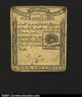 Colonial Notes:Massachusetts, Massachusetts 1779 4s Choice Very Fine. A well printed and ...