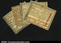 Colonial Notes:Massachusetts, Four Canceled Massachusetts Guaranteed Notes. $2 Very Fin...