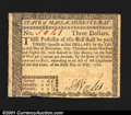Colonial Notes:Massachusetts, Massachusetts May 5, 1780 $3 About New. Fully signed and is...