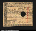 Colonial Notes:Massachusetts, Massachusetts May 5, 1780 $7 About New. A hole-canceled exa...