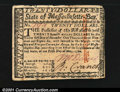 Colonial Notes:Massachusetts, Massachusetts May 5, 1780 $20 About New. An attractive unca...