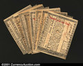 Colonial Notes:Massachusetts, Massachusetts May 5, 1780 Guaranteed Grouping. A complete d...