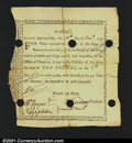 Colonial Notes:Massachusetts, Massachusetts Treasury Certificate 1777 Extremely Fine. MA ...