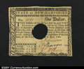Colonial Notes:New Hampshire, New Hampshire April 29, 1780 $1 Extremely Fine. Hole cancel...