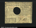 Colonial Notes:New Hampshire, New Hampshire April 29, 1780 $1 Very Fine. Hole canceled wi...