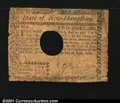 Colonial Notes:New Hampshire, New Hampshire April 29, 1780 $2 Very Good. Canceled as usua...