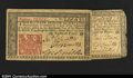 Colonial Notes:New Jersey, New Jersey March 25, 1776 18d. Two pieces, the first is a w...