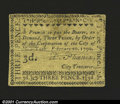 Colonial Notes:New York, City of New York February 20, 1790 3d Very Fine-Extremely Fin...