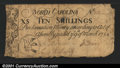 Colonial Notes:North Carolina, North Carolina March 9, 1754 10s Fine-Very Fine. This early...