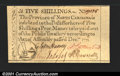 Colonial Notes:North Carolina, North Carolina December 1771 5s Gem New. About as perfect a...
