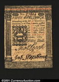 Colonial Notes:Pennsylvania, Pennsylvania October 1, 1773 50s Choice New. Too tightly ma...