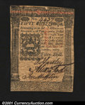 Colonial Notes:Pennsylvania, Pennsylvania October 1, 1773 50s Extremely Fine. A well-sig...