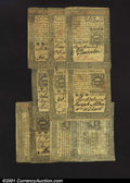 Colonial Notes:Pennsylvania, Ten October 1, 1773 Pennsylvanias. 2s6d Very Fine; two ...
