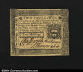 Colonial Notes:Pennsylvania, Pennsylvania October 25, 1775 2s Very Choice New. But for a...