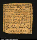 Colonial Notes:Rhode Island, Rhode Island May 22, 1777 $1/36 Fine. Internally, the note ...