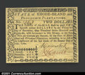 Colonial Notes:Rhode Island, Rhode Island July 2, 1780 $2 Superb Gem New. Numbered and s...