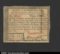 Colonial Notes:Rhode Island, Rhode Island July 2, 1780 $3 About New. Fully issued and si...