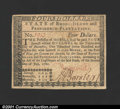 Colonial Notes:Rhode Island, Rhode Island July 2, 1780 $4 Choice New. Fully signed, incl...
