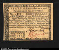 Colonial Notes:Rhode Island, Rhode Island July 2, 1780 $8 Gem New. Signed on the face by...