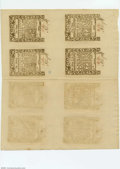 Colonial Notes:Rhode Island, Rhode Island May 1786 Double Sheet of Eight Gem New. A love...