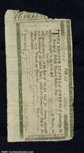 Colonial Notes:Virginia, Continental Loan Office Certificate February 22, 1777 Extreme...