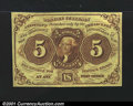 Fractional Currency:First Issue, Fr. 1231 5¢ First Issue Gem New. A beautiful example with s...