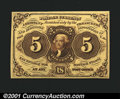Fractional Currency:First Issue, Fr. 1231 5c First Issue Very Choice New. Extremely well pri...