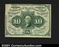 Fractional Currency:First Issue, Fr. 1242 10c First Issue Choice New. This is a particularly...