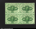 Fractional Currency:First Issue, Fr. 1242 10c First Issue Block of Four. A beautiful block c...