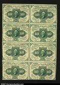 Fractional Currency:First Issue, Fr. 1242 10¢ First Issue Block of Eight About New. An attra...