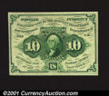 Fractional Currency:First Issue, Fr. 1243 10¢ First Issue Gem New. This straight-edge no-mon...