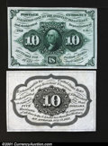 Fractional Currency:First Issue, Fr. 1243SP 10c First Issue Narrow Margin Pair Superb Gem New....