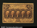 Fractional Currency:First Issue, Fr. 1279 25c First Issue Choice New. But for a straight edg...
