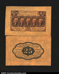 Fractional Currency:First Issue, Fr. 1282SP 25c First Issue Wide Margin Pair Superb Gem New....