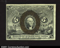 Fractional Currency:Second Issue, Fr. 1232 5c Second Issue Inverted Back Surcharge About New....