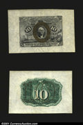 Fractional Currency:Second Issue, Fr. 1244SP 10c Second Issue Wide Margin Pair Choice About New...