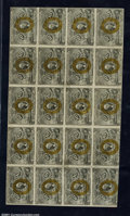 Fractional Currency:Second Issue, Fr. 1246 10¢ Second Issue Complete Sheet of 20 Extremely Fine...