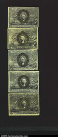Fractional Currency:Second Issue, Five Fiber Paper Notes. Fr. 1289, (2) 1290 and (2) 1322. Al...