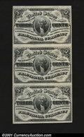 Fractional Currency:Third Issue, Fr. 1226 3c Third Issue Vertical Strip of Three Gem New. A ...